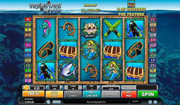 Main Gratis Slot Indonesia - Treasure Diver Habanero