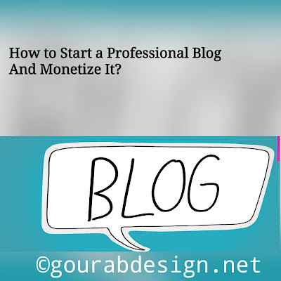 How to Start a Professional Blog And Monetize It