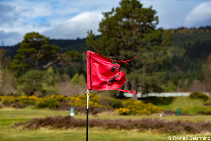 Fort Augustus Golf Club Hole 2 Flag Top Scottish Golf Courses