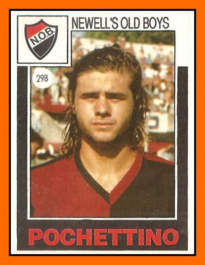 Old School Panini Before His Coaching Career Mauricio Pochettino