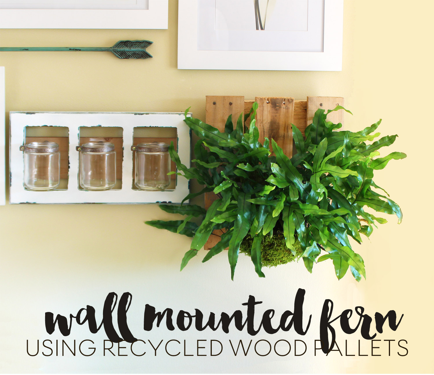 DIY wall mounted pallet fern
