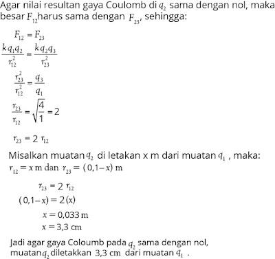 Jawaban soal fisika tentang listrik statis nomor 3