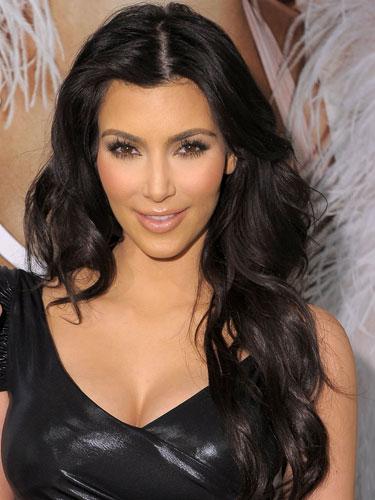 kim kardashian curly hairstyles