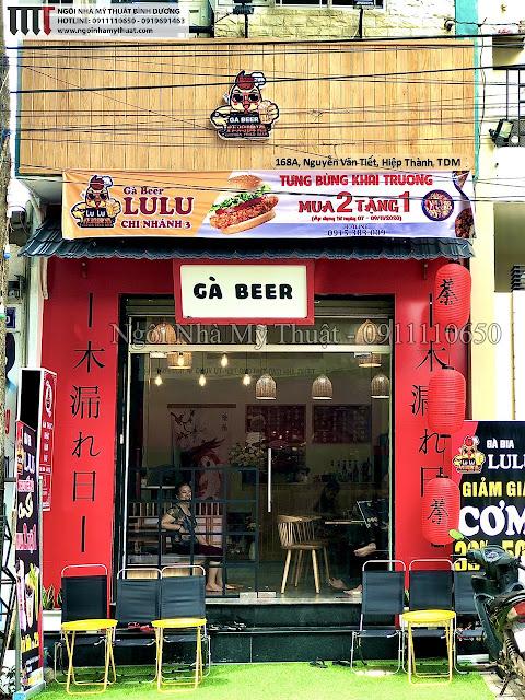 Thi công trang trí quán ăn rẻ đẹp tại Thủ Dầu Một