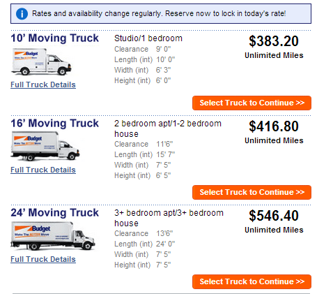 Moving Truck Companies >> Discounts & Deals 4 Military: Moving Truck Comparison (Budget, U-Haul, Penske)