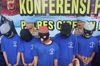 Kapolres CIKO Gelar Konferensi Pers Ungkap Kasus Percobaan Pemcurian