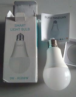 Isi pack BARDI Smart Light Bulb  9W - RGBWW