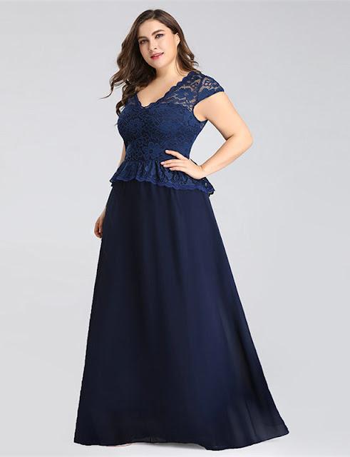 navy lace plus size dress