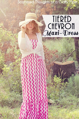 Learn how to make your own tiered Maxi-Dress, in any size using your measurements.  No patterns to print, only straight cuts!  (The best way to sew IMO...)  #Tutorial #maxidress #DIY