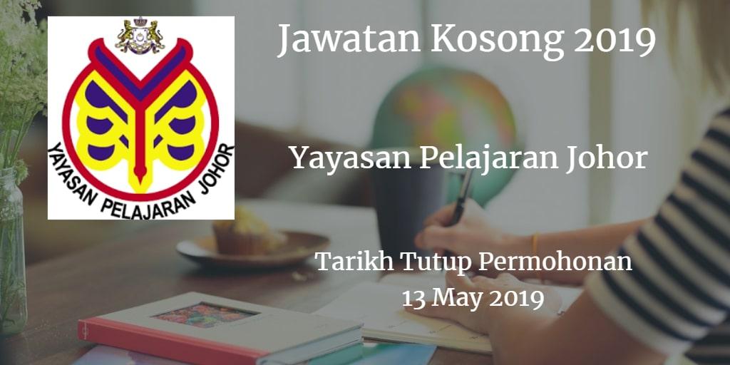 Jawatan Kosong YPJ 13 May 2019