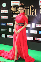 Apoorva in a Stunning Tight Leg Split Sleeveless Red Gown at IIFA Utsavam Awards 05.JPG