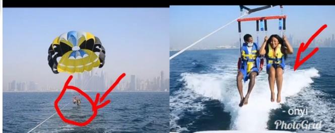 Mixed Reactions As Reality Star Erica was Seen Parasailing In A Big Ocean (PHOTOS)