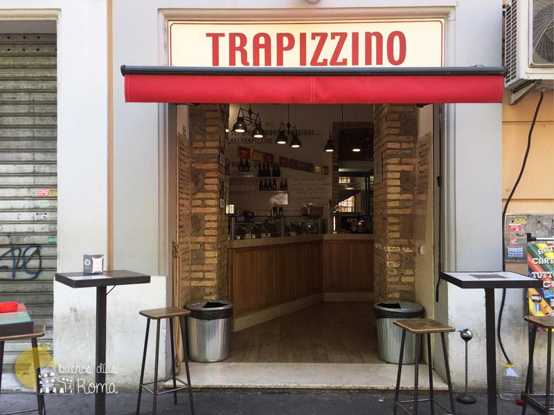 Trapizzino en Ponte Milvio Roma