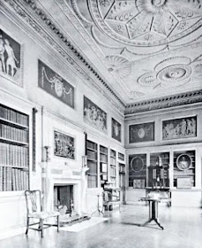 The Library, Shardeloes from The Architecture   of Robert and James Adam by AT Bolton (1922)