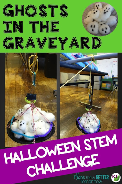 Halloween STEM Challenge: Ghosts in the Graveyard is an engaging, collaborative, hands-on activity in which students design a device to lift ghost out of the graveyard.