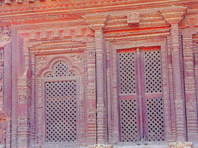 Meticulous Wooden carving in the architecture