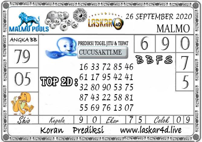 Prediksi Togel MALMO LASKAR4D 26 SEPTEMBER 2020