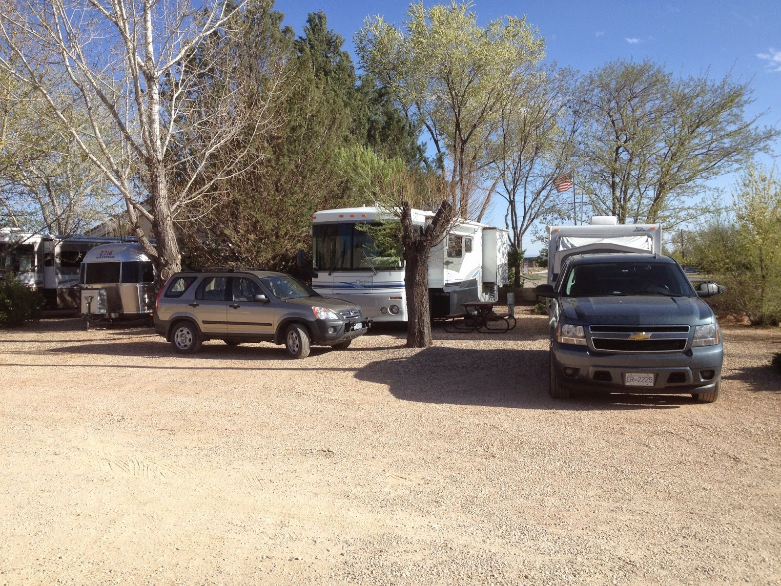 Motorhome in the RV Corral RV Park in Kanab Utah
