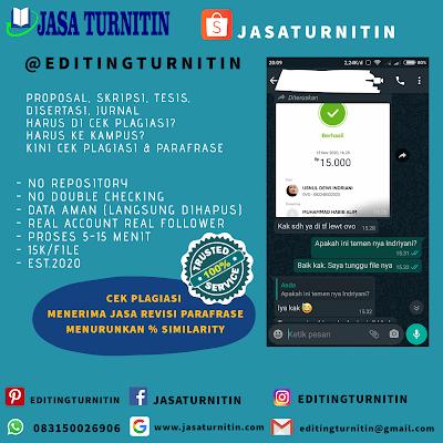 Jasa Cek Plagiasi Online Turnitin Di Lampung