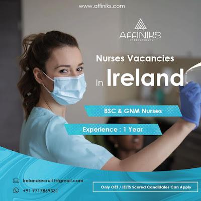 Nurses Vacancy In Ireland