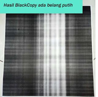 Penyebab hasil fotocopy ada garis putih ditengah