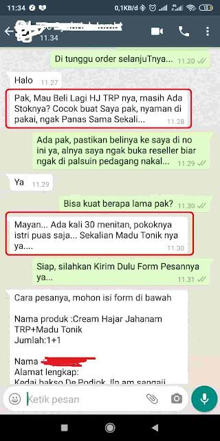Hangat Kuku Sensasi Cream Hajar Jahanam TRP Obat Kuat Oles