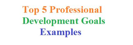 Top 5 Professional Development Goals Examples