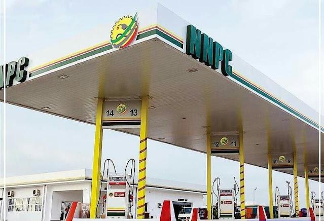 "Alt: = ""NNPC fuel station photo"""