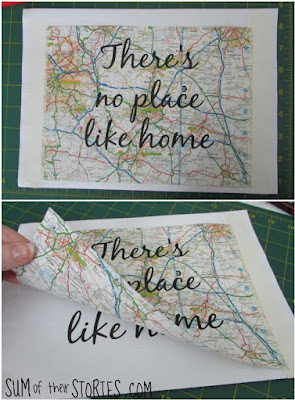 Easy Quote Art using Maps, One of my favorites this week at Encouraging Hearts and Home, link-up your creations, right here at Scratch Made Food! & DIY Homemade Household!