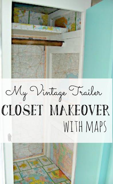 Vintage Trailer Closet Makeover