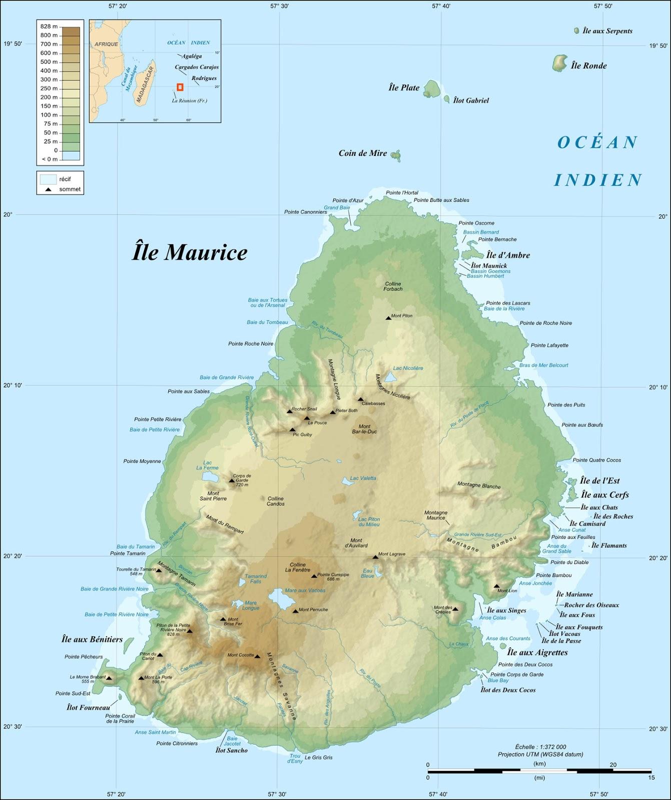 Mauricio | Mapas Geográficos das Ilhas Maurício