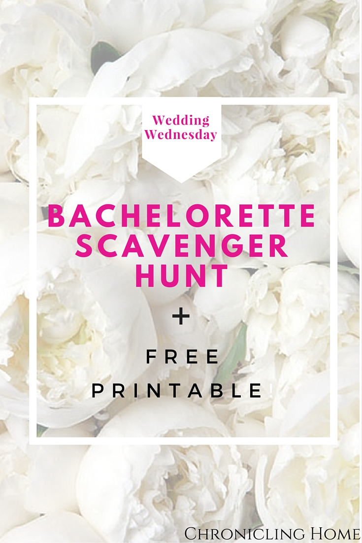Bachelorette Scavenger Hunt Printable