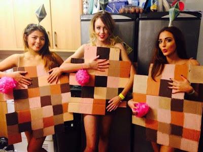 Disfraz Halloween pixelado amigas