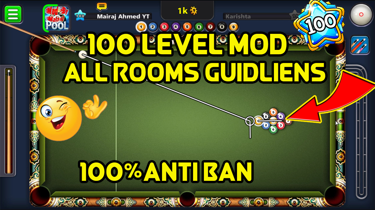 8 Ball Pool 100 Level Mod 4 2 0 Official - Mairaj Ahmed Mods