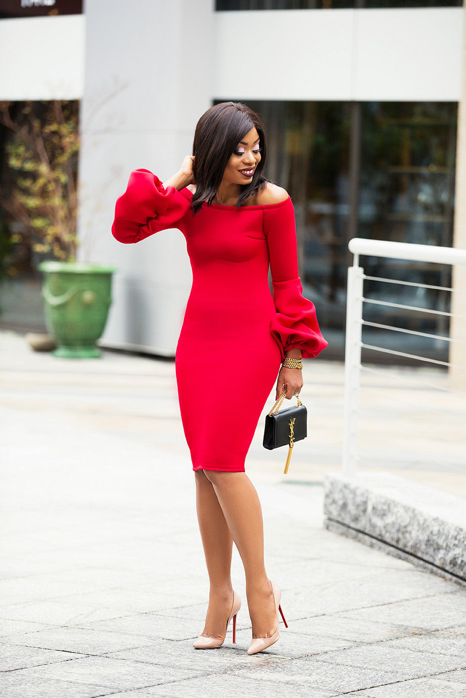 Holiday red dress, www.jadore-fashion.com