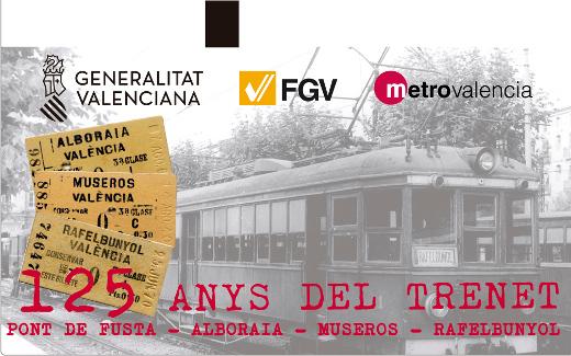 Metrovalencia comienza a distribuir 24.300 tarjetas de transporte dedicadas al 125 aniversario de la llegada del trenet a Rafelbunyol