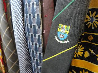 neckties in a charity shop