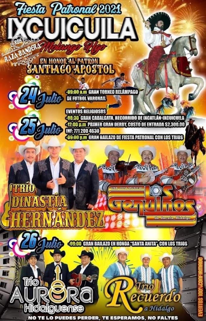 Fiesta Patronal Ixcuicuila 2021