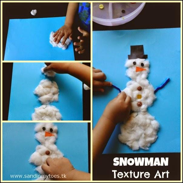Making Textured Snowman Art