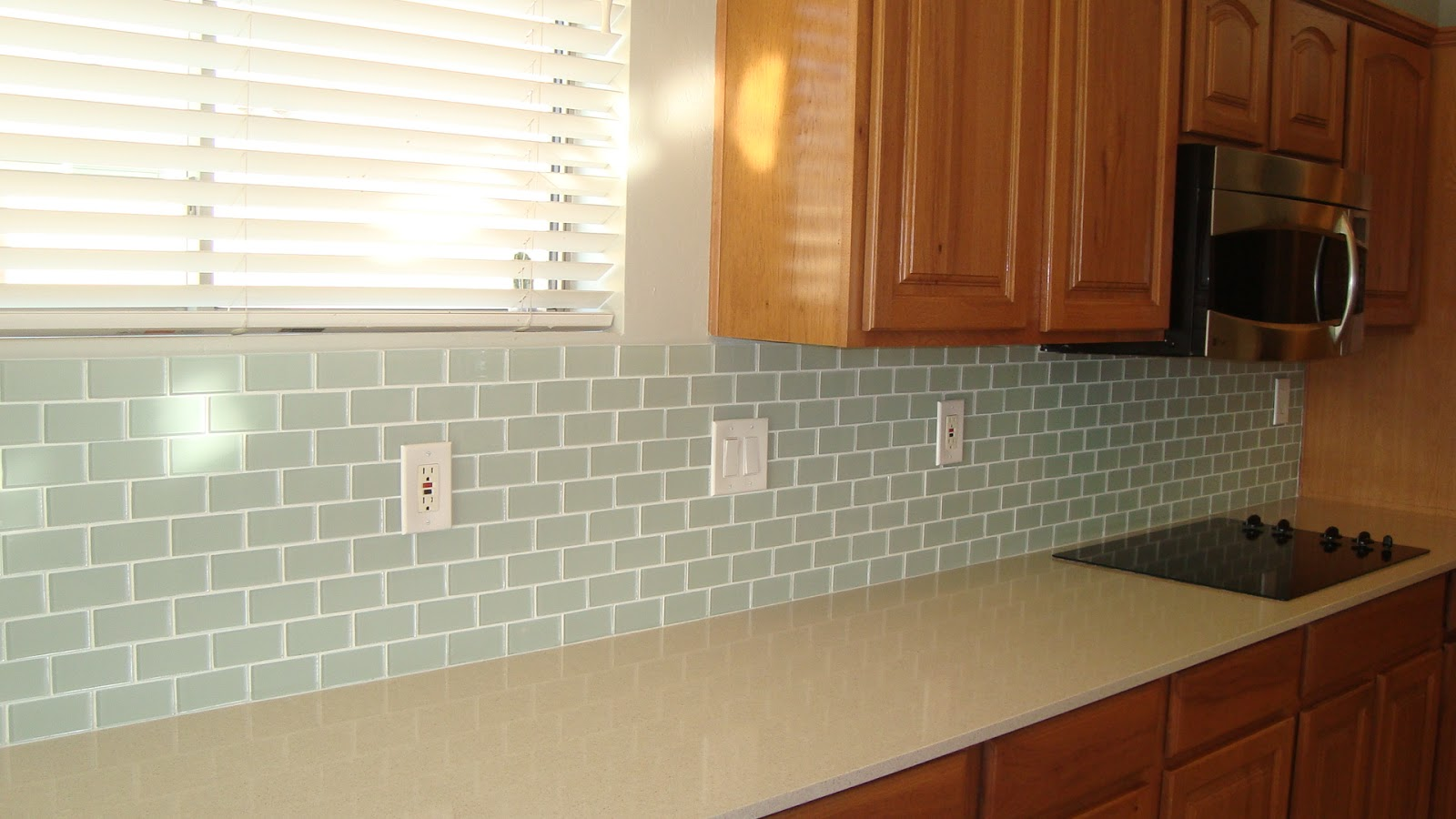 Home Depot Kitchen Wall Cabinets Christine's Favorite Things: Glass Tile Backsplash