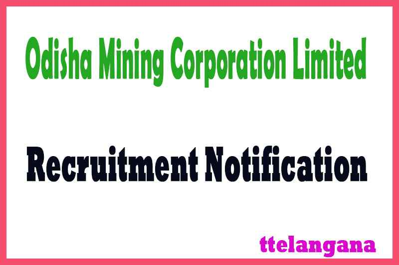 Odisha Mining Corporation Limited OMC Recruitment Notification