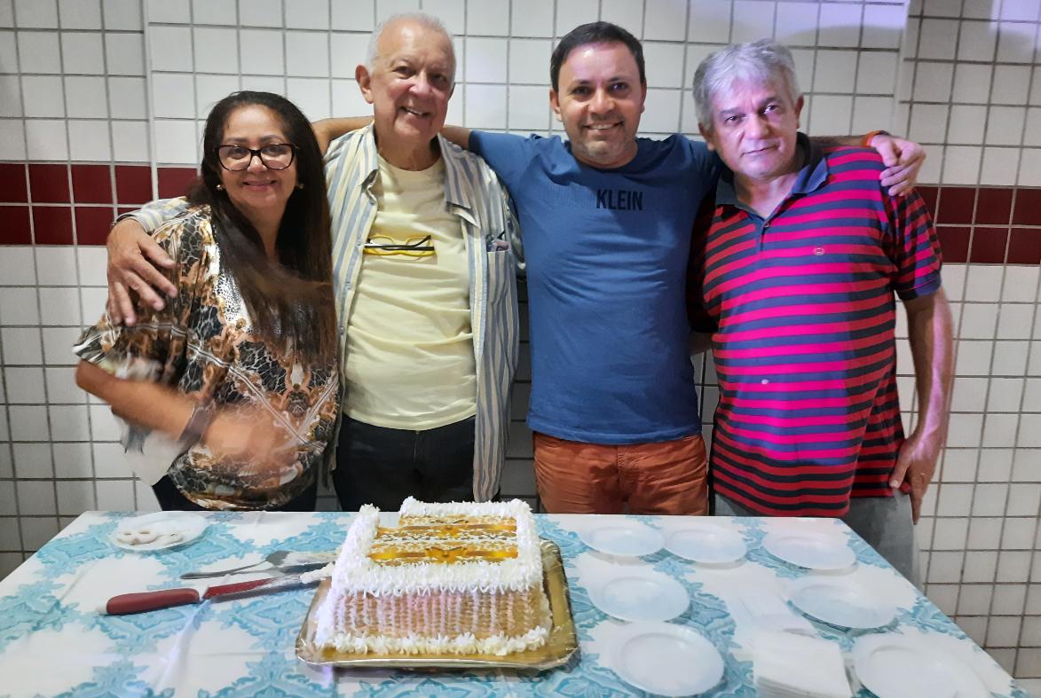Da esquerda para direita: Neide, Dalmo, Marcus e Dantas.