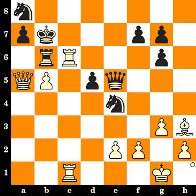 Les Blancs jouent et matent en 3 coups - Johann Hjartarson vs John Van Der Wiel, Salonique, 1984