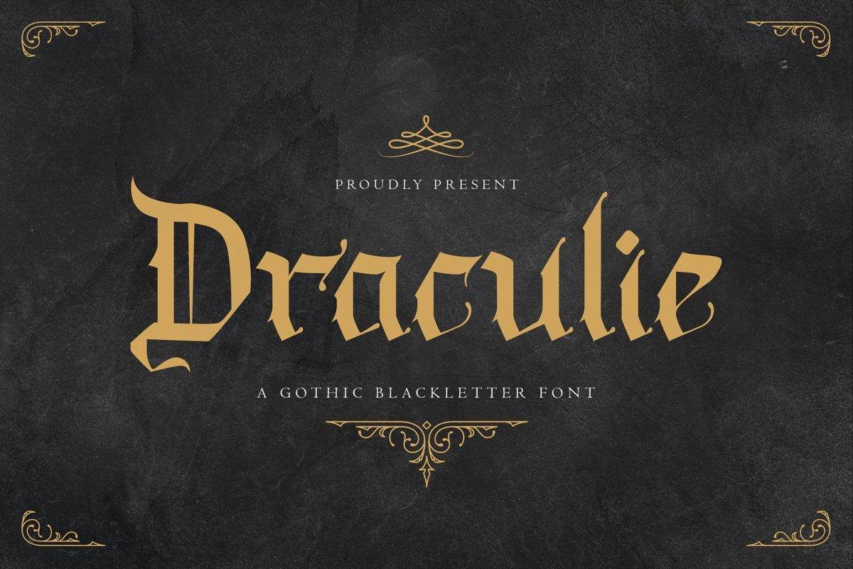 Draculie Font - Free Gothic Blackletter Typeface