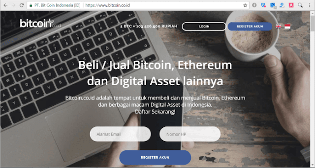 Registrasi Akun Trading Bitcoin Indonesia Bitcoin.co.id/INDODAX