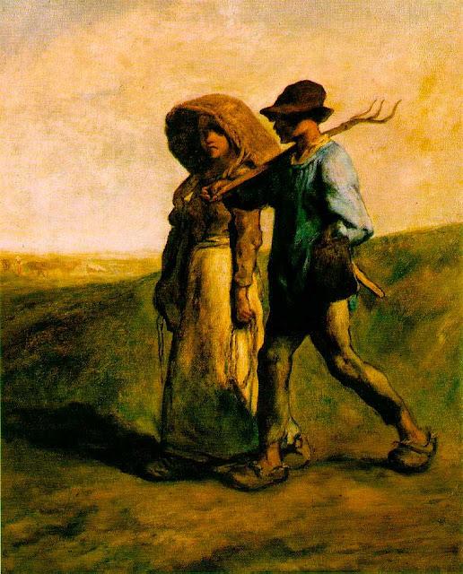 Жан Франсуа Милле - Путь на работу. 1853