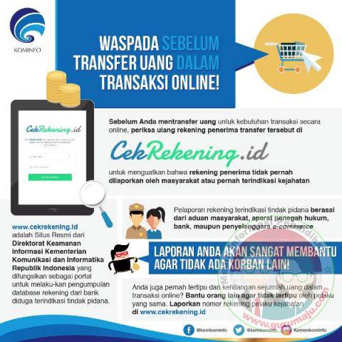 Cek terlebih dahulu sebelum bertransaksi secara online