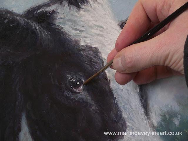 Martinn Davey artist cow portrait WIP