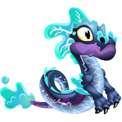 Appearance of Water Storm Dragon when baby