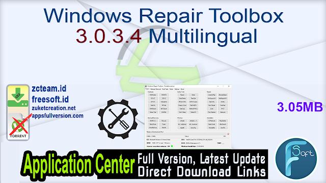 Windows Repair Toolbox 3.0.3.4 Multilingual